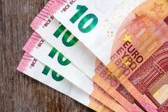 Zehn Euroanmerkungen Lizenzfreies Stockfoto