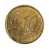 Zehn Eurocents Lizenzfreie Stockfotos