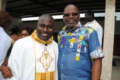 ZEHN JAHRE EINER AFRIKANISCHEN PRIESTER-PRIESTERSCHAFT Lizenzfreies Stockfoto