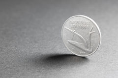 Zehn-Lira-Münze aus Italien vom 1977 Lizenzfreie Stockfotografie