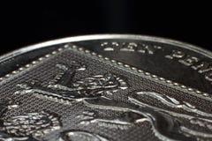 Zehn Makro der Pennys-10p Lizenzfreies Stockfoto