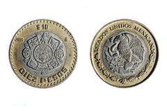 Zehn mexikanische Pesos Stockfotografie