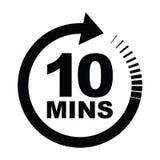Zehn-Minute-Ikone lizenzfreie abbildung