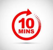 Zehn-Minute-Ikone vektor abbildung