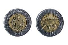 Zehn Peso Uruguayanwährung Stockfotos