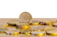 Zehn-Rubel-Münzen Lizenzfreie Stockbilder