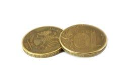 Zehn-Rubel-Münzen Stockbilder