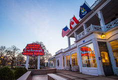 Zehnders Of Frankenmuth. Frankenmuth, Michigan, USA - April 17, 2016. Opened in 1928, Zehnders is a famous Michigan restaurant that serves up to 3,000 customers stock image