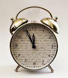 Zehnte Stunde des Uhrweckers lizenzfreies stockfoto