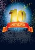 Zehnter Jahrestag lizenzfreie abbildung