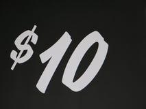 Zeichen $10 Stockfotos