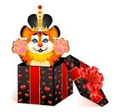 Zeichen 2010 Jahre ist ein schöner kleiner Tiger in Wechselstrom Stockfotografie