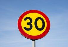 Zeichen 30 Lizenzfreie Stockbilder