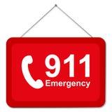 Zeichen 911 Stockfotografie