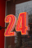 24 Zeichen Lizenzfreies Stockbild