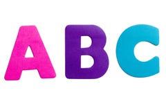 Zeichen ABC Stockbild