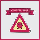 zeichen achtung VIRUS! vektor abbildung