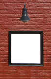 Zeichen auf Backsteinmauer Stockbilder