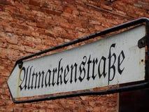 Zeichen auf den Wänden im alten Berlin Lizenzfreie Stockfotografie
