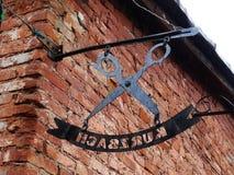 Zeichen auf den Wänden im alten Berlin Lizenzfreies Stockfoto