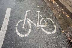Zeichen auf der Straße Stockbild