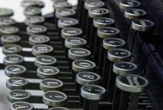Zeichen auf einer alten Schreibmaschine Stockfotografie