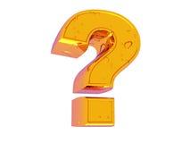 Zeichen auf einer Frage Lizenzfreies Stockfoto