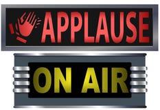 Zeichen auf Luft-Applaus-Studio Lizenzfreie Stockbilder