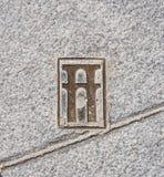 Zeichen auf Segovia-Stadt, Spanien Stockbilder
