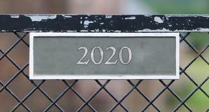 Zeichen auf Zaun - 2020 Lizenzfreie Stockfotografie