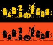 Zeichen auf Zeile - Halloween Lizenzfreie Stockfotos