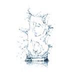 Zeichen B des Wasseralphabetes Lizenzfreie Stockfotos