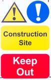 Zeichen 'Baustelle halten' ab Lizenzfreie Stockfotos