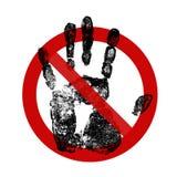Zeichen: Berühren Sie sich nicht! Stockfoto