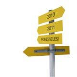Zeichen bis 2011 Lizenzfreies Stockfoto