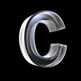 Zeichen C im Glas 3D Stockfotografie