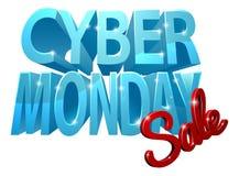 Zeichen cyber-Montag-Verkaufs-3D Stockfotografie