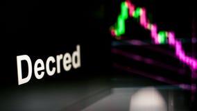 Zeichen Decred Cryptocurrency Das Verhalten der cryptocurrency Austausch, Konzept Moderne Finanztechnologien lizenzfreie abbildung