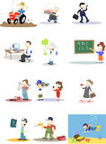 Zeichen in den verschiedenen Berufen Stockfotografie