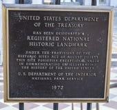 Zeichen an der Abteilung Vereinigter Staaten von Fiskus - WASHINGTON DC - KOLUMBIEN - 7. April 2017 Lizenzfreie Stockfotos