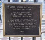 Zeichen an der Abteilung Vereinigter Staaten von Fiskus - WASHINGTON DC - KOLUMBIEN - 7. April 2017 Lizenzfreies Stockfoto
