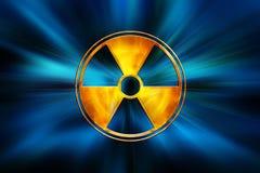 Gefahrenzeichen auf Blau Stockbild