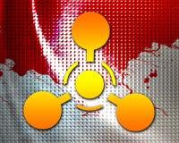 Zeichen der chemischen Waffe Stockfoto