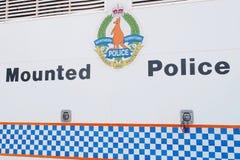 Zeichen der Dienstleistungen der Nordterritoriumberittenen polizei Stockbilder