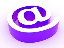 Zeichen der eMail 3d. Übertragenes Bild. stock abbildung