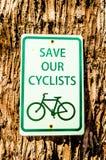 Zeichen der Fahrradöffentlichen information Stockfotografie