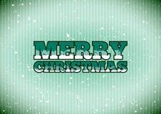 Zeichen der frohen Weihnachten Stockbild