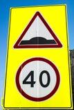 Zeichen der Höchstgeschwindigkeit lizenzfreies stockfoto