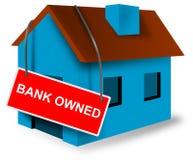 Zeichen der Haus- und Haushypothek Stockfotografie