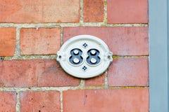 Zeichen der Hausnummer 88 Lizenzfreies Stockfoto